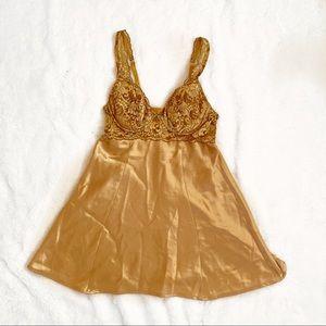 FLASH SALE⭐️ Victoria's Secret Gold Slip Dress